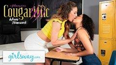 Den trevliga kvinnliga läraren och den lesbiska skolflickan