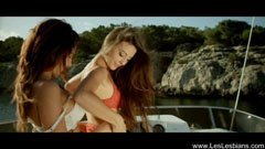 Sensual girls on the boat