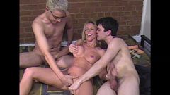 Carol Cox and the college boys