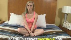 Private casting of the blonde kitty
