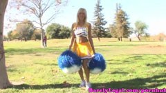 Breanne Benson, the blonde cheerleader