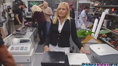 The blonde milf in the pawn shop