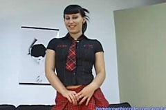 Jenta i slips og gulrot