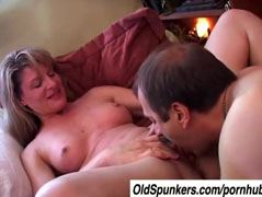 The mature woman enjoys sunday afternoon