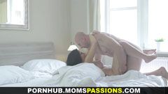 Passionate morning sex