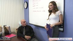 Jillian Janson and the teacher