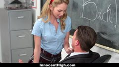 The teacher fucks the small tits schoolgirl