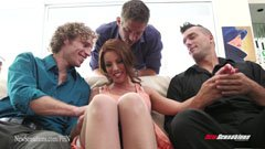 Britney Amber and the three men