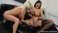 Nikita Von James and Lisa Ann
