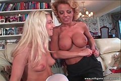 The buxom woman and the hot blonde
