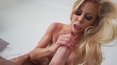 The blonde slut and the stiff cock