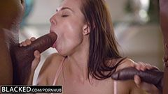 Aidra Fox and two black dicks