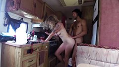 Morning sex in the van