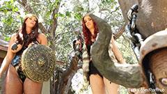 Lesbian viking girls