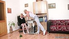 Anniversaire sexe avec la blonde