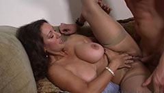 Buxom wife with tasty pussy
