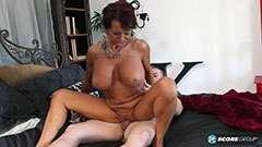 The 60 years old italian woman worships penis
