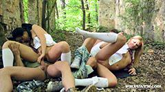 Adventure of two horny schoolgirls