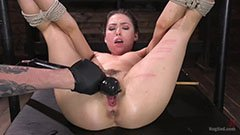 Torture of the brunette chick
