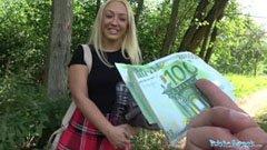 Британското момиче чука за пари
