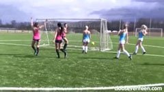 A női focimeccs után