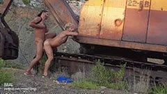Гей секс в старата фабрика