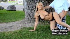 Offentligt australiskt sex i parken