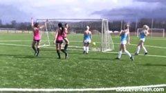 Efter kvinnlig fotbollsmatch