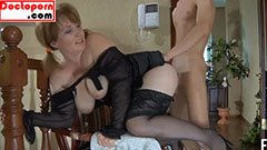 The chubby wife seduces her son