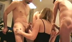 Amateur swinger party