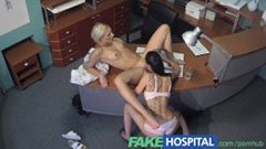 The blonde receptionist and the seductive nurse