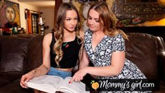 Mamma och skolflicka